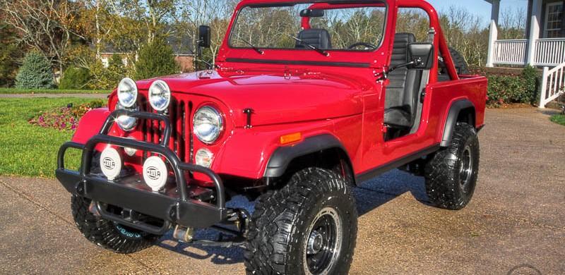 V3 Jeep Shop 1984 CJ 8 Red