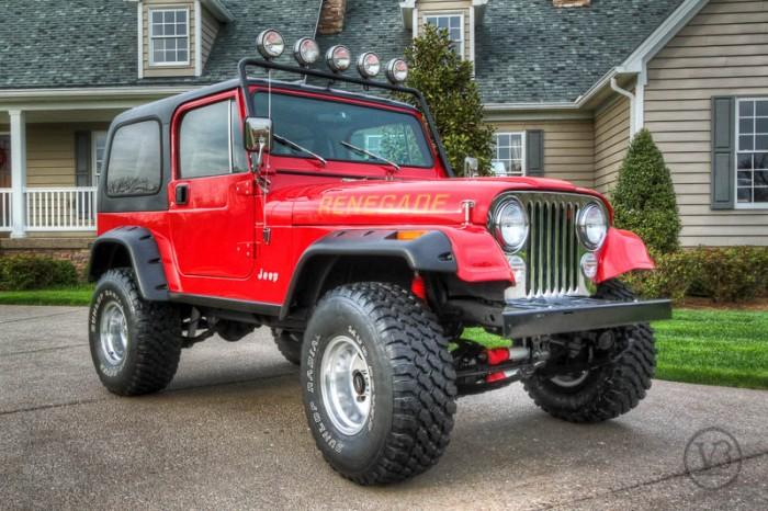 1984 jeep cj7 renegade red v3 4 4. Black Bedroom Furniture Sets. Home Design Ideas