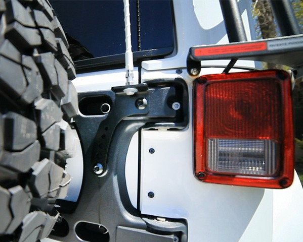 Jeep Wrangler Jk Jku Aluminum Hinged Tire Carrier Cb Antenna